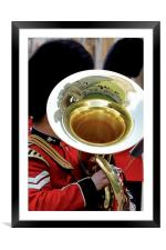 Welsh Guards Band 3, Framed Mounted Print