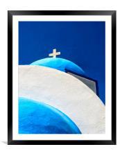 kamari church 01, Framed Mounted Print