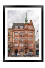 Helsingborg Sandstone Building Facade, Framed Mounted Print
