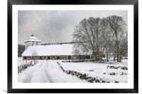 Hovdala Castle in Winter, Framed Mounted Print