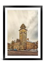 Clydebank Town Hall Corner, Framed Mounted Print