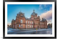 Govan Town Hall Left Side View, Framed Mounted Print