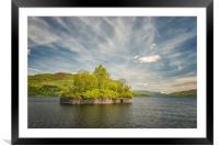 Factors Isle on Loch Katrine, Framed Mounted Print
