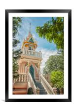Hua Hin Catfish Temple Complex, Framed Mounted Print