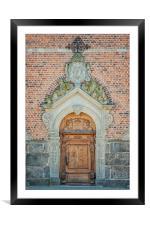 Kristianstad Church Doors, Framed Mounted Print