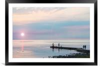 Sunset Gathering at Torekov, Framed Mounted Print