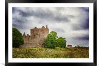 Craigmillar Castle Digital Painting, Framed Mounted Print