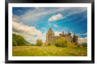 Kilchurn Castle Landscape Digital Painting, Framed Mounted Print
