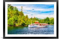 Loch Katrine Steamship Digital Painting, Framed Mounted Print