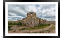 Borgholm Castle Ruin Panorama, Framed Mounted Print