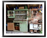 Retro Country Kitchen, Framed Mounted Print