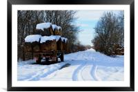Wintry Tracks, Framed Mounted Print