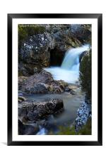 The River Coupall Waterfall , Framed Mounted Print
