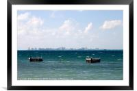 Puerto Juarez and Cancun Mexico from Isla Mujeres, Framed Mounted Print