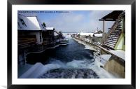 Over the Fish Ladder, Framed Mounted Print