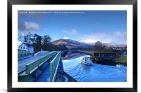 The Caledonian Canal, Corpach, Scotland., Framed Mounted Print