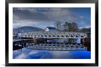 Caledonian Canal, Corpach, Scotland, Framed Mounted Print
