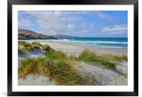 Traigh Eais, Isle of Barra, Outer Hebrides., Framed Mounted Print