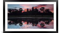 Angkor Wat Sunrise, Framed Mounted Print
