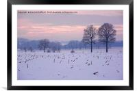 Winter Evening, Framed Mounted Print