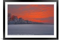 Burning Sky, Framed Mounted Print
