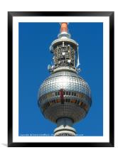 The Famous TV Tower in Berlin, Framed Mounted Print