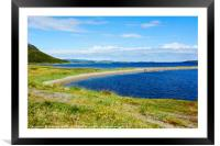 Summer on Porsangerfjorden , Framed Mounted Print