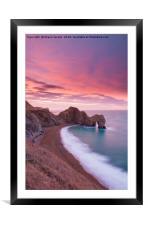 Durdle Door sunrise , Framed Mounted Print