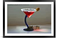 Time for cocktails, Framed Mounted Print