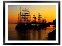 Greenwich Tall Ships Festival, Framed Mounted Print