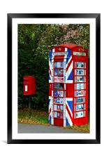 Very Patriotic  telephone box, Framed Mounted Print