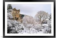 Snow Scene in Betws-y-Coed, Framed Mounted Print