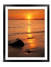 Tremadog Bay Sunset, Framed Mounted Print
