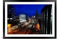 Into The City, Framed Mounted Print
