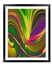 Abstract Light & Shade Hot, Framed Mounted Print