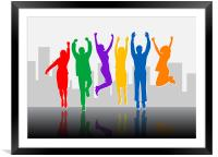 Business Success - Colorful, Framed Mounted Print