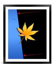 Marijuana Leaf, Framed Mounted Print