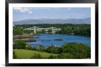 Menai Suspension Bridge, Framed Mounted Print
