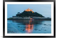 St Michaels Mount at Twilight, Framed Mounted Print
