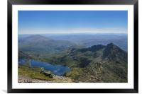 View from the top of Snowdon, Framed Mounted Print