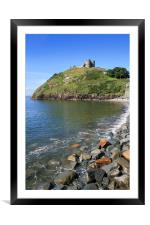 Criccieth Castle, Framed Mounted Print