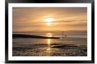 Morecambe sunset, Framed Mounted Print