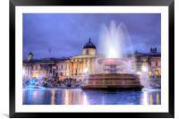 Trafalgar Square at Dusk, Framed Mounted Print