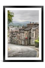 Kendal town, The Lake District, Framed Mounted Print