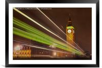 Big Ben at Night, Framed Mounted Print