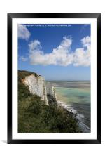 The White Cliffs of Dover, Framed Mounted Print
