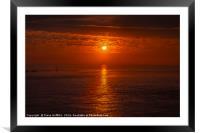 Lands End Sunset, Framed Mounted Print