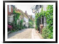 Mermaid Street, Rye, Framed Mounted Print