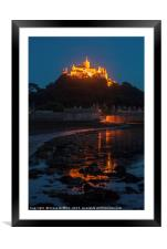 St Michael's Mount at Night, Framed Mounted Print