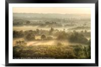 Kent Countryside at sunrise, Framed Mounted Print